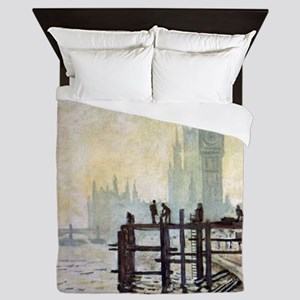 Claude Monet Westminster Bridge Queen Duvet