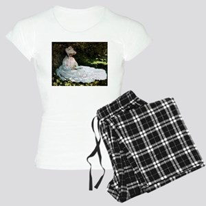 Claude Monet Woman Reading Women's Light Pajamas