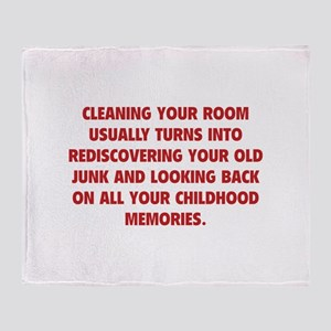 Cleaning Your Room Throw Blanket
