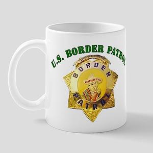Border Patrol Badge Mug