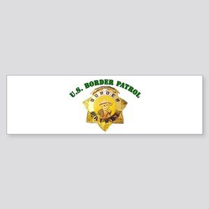 Border Patrol Badge Bumper Sticker