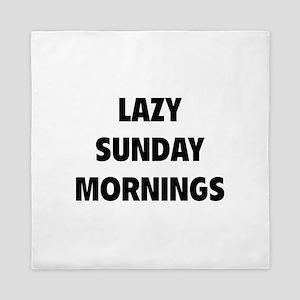 Lazy Sunday Mornings Queen Duvet