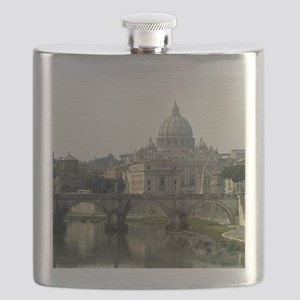 Vatican and Tiber River - Square Flask