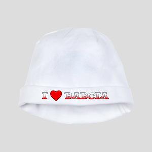 I Love Babcia baby hat