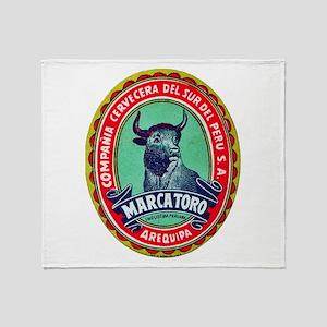 Peru Beer Label 2 Throw Blanket