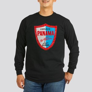 Panama Beer Label 1 Long Sleeve Dark T-Shirt