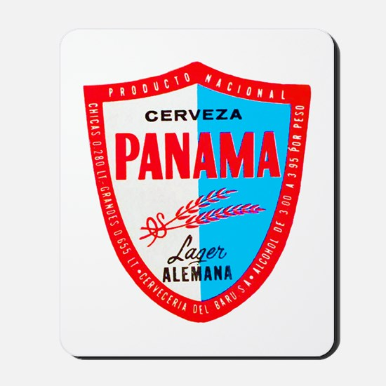 Panama Beer Label 1 Mousepad