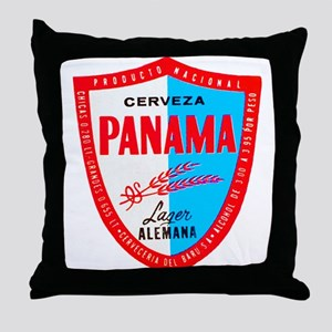 Panama Beer Label 1 Throw Pillow
