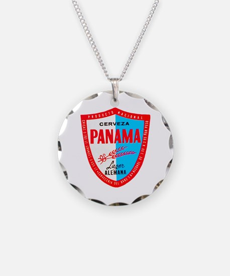 Panama Beer Label 1 Necklace
