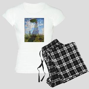 Monet Woman with a Parasol Women's Light Pajamas
