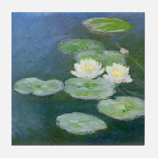 Claude Monet Water Lilies Tile Coaster