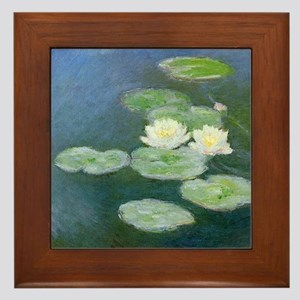 Claude Monet Water Lilies Framed Tile