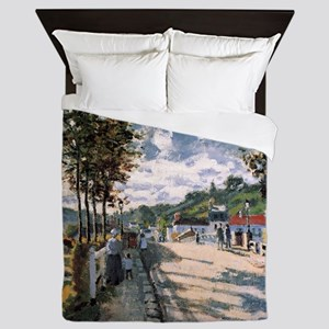 Monet The Seine at Bougival Queen Duvet