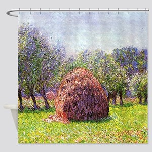 Claude Monet Heaps Of Hay Shower Curtain