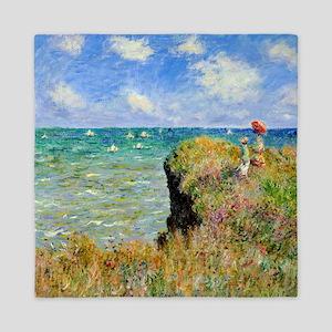 Claude Monet Clifftop Walk Queen Duvet