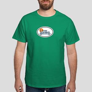 Tybee Island GA - Oval Design. Dark T-Shirt
