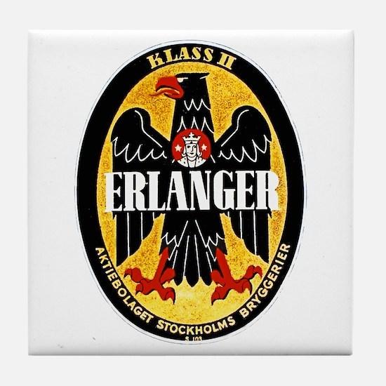 Sweden Beer Label 1 Tile Coaster