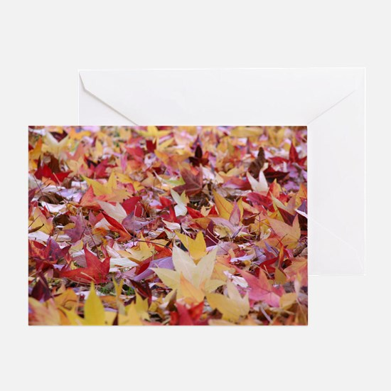 Fire leaves, Greeting Card