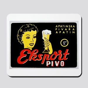 Serbia Beer Label 1 Mousepad