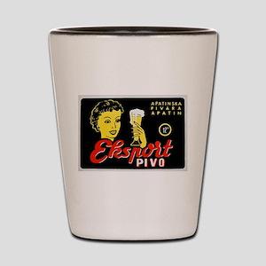 Serbia Beer Label 1 Shot Glass