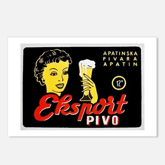 Serbia Beer Label 1 Postcards (Package of 8)