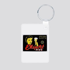 Serbia Beer Label 1 Aluminum Photo Keychain