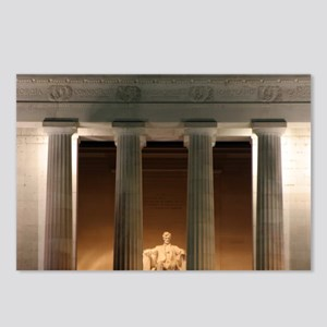 Lincoln memorial at night Postcards (Package of 8)