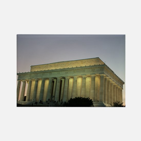 Lincoln Memorial at night Rectangle Magnet