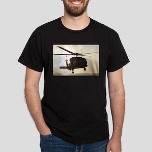 Navy Rescue Helicopter Dark T-Shirt