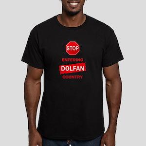 Entering Dolfan Country Men's Fitted T-Shirt (dark