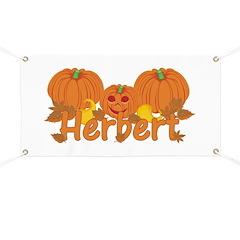 Halloween Pumpkin Herbert Banner
