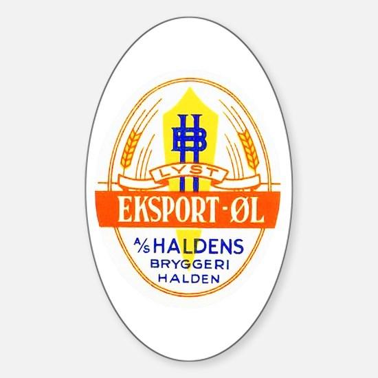 Norway Beer Label 5 Sticker (Oval)