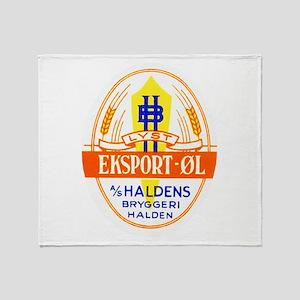 Norway Beer Label 5 Throw Blanket