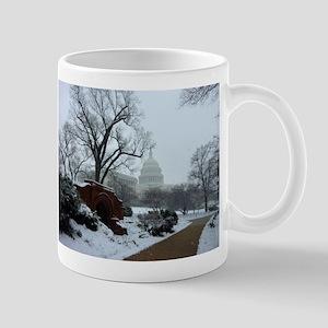 US Capitol Building Snow Photo Mug