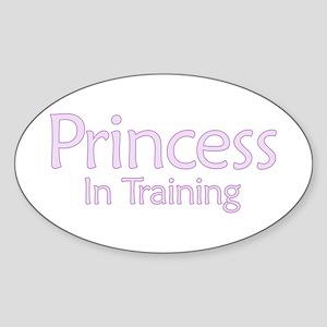 Princess in Training Oval Sticker