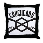 GrogHeads Logo (BIG) Throw Pillow