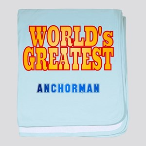 World's Greatest Anchorman baby blanket