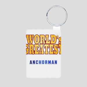World's Greatest Anchorman Aluminum Photo Keychain