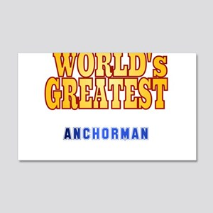 World's Greatest Anchorman 20x12 Wall Decal