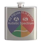Autistic Spectrum symbol Flask
