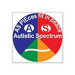 """Autistic Spectrum symbol Square Sticker 3"""" x 3"""""""