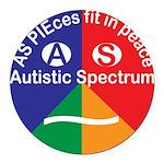 Autistic Spectrum symbol Round Car Magnet