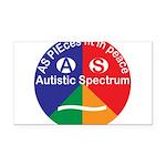 Autistic Spectrum symbol Rectangle Car Magnet