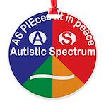 Autistic Spectrum Symbol Round Ornament