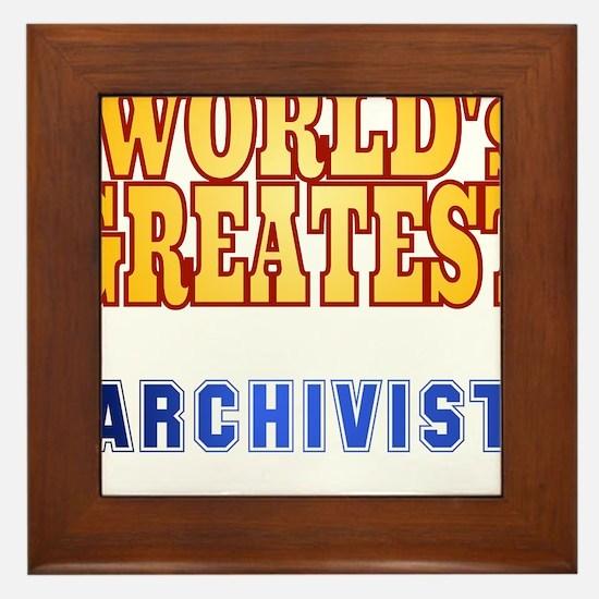 World's Greatest Archivist Framed Tile