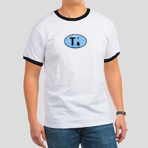 Tybee Island GA - Oval Design. Ringer T