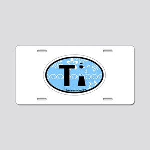 Tybee Island GA - Oval Design. Aluminum License Pl
