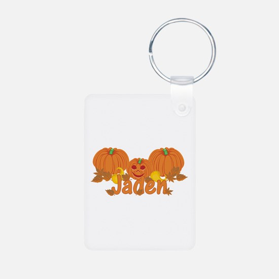 Halloween Pumpkin Jaden Aluminum Photo Keychain
