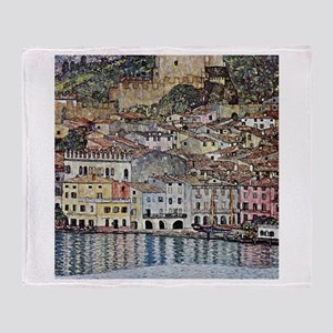 Klimt Malcesine on Lake Garda Throw Blanket