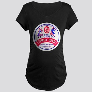 Poland Beer Label 2 Maternity Dark T-Shirt